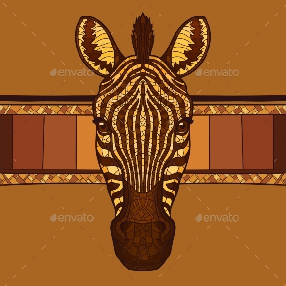 GraphicRiver Zebra Head 11943658