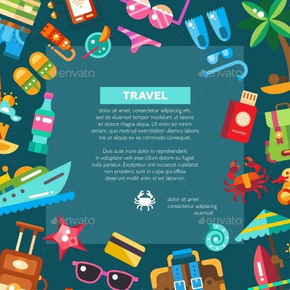 GraphicRiver Flyer Of Modern Flat Design Seaside Travel 11943891