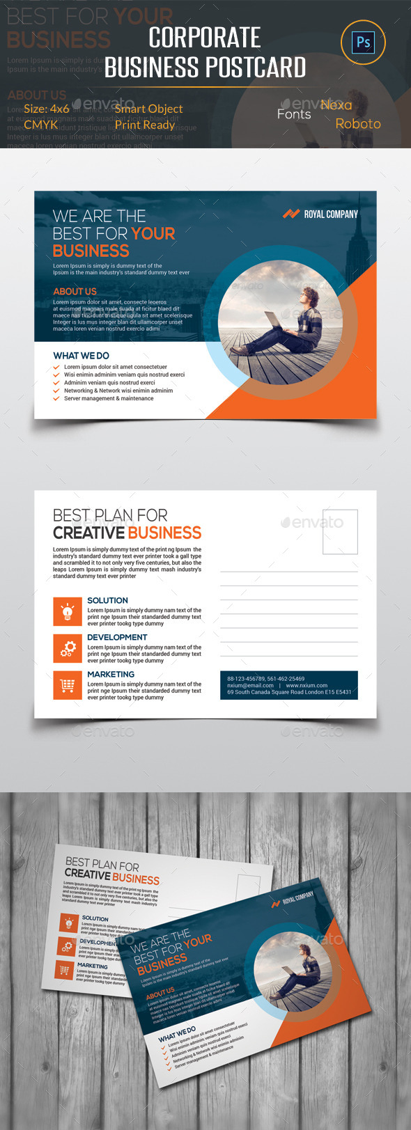 GraphicRiver Corporate Business Postcard 11943934
