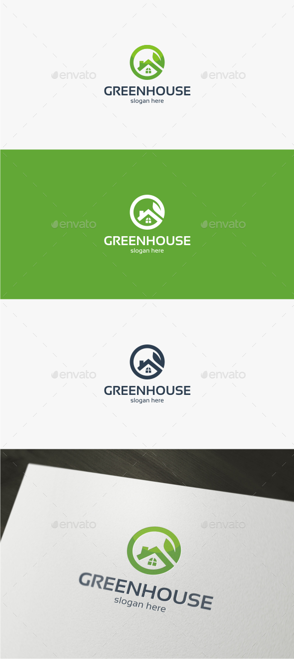 GraphicRiver Green House Logo Template 11944093