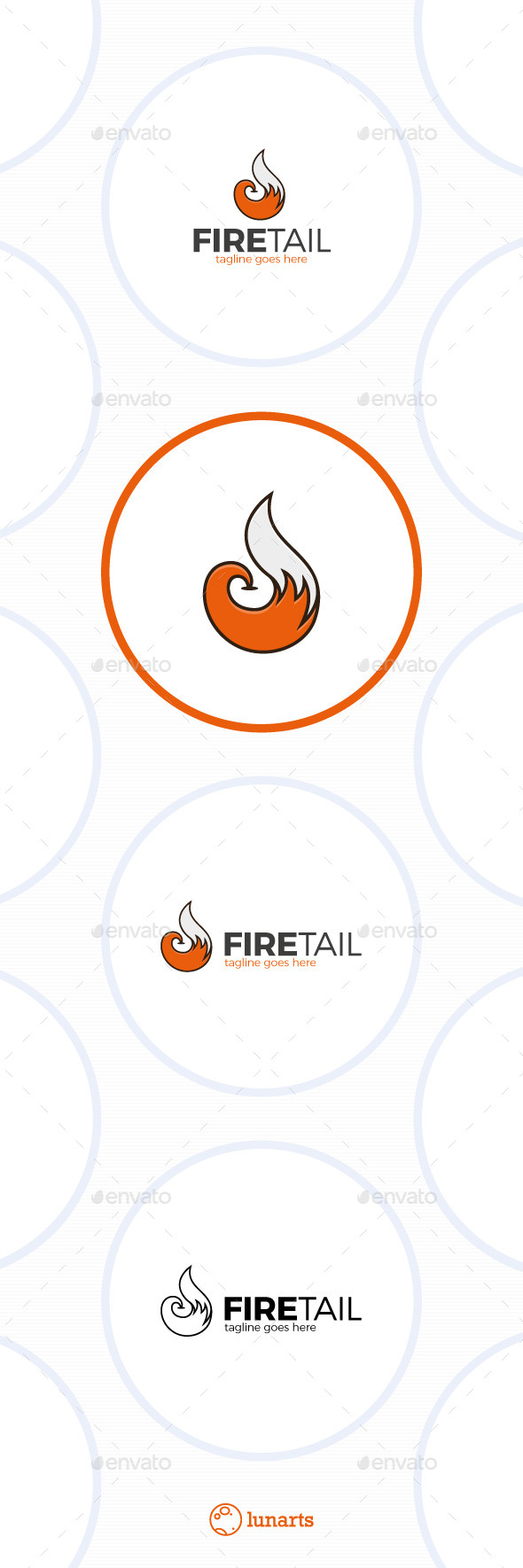 GraphicRiver Fire Fox Tail Logo 11944155