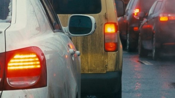 VideoHive Bumper-to-bumper Traffic On Dull Day 11944368
