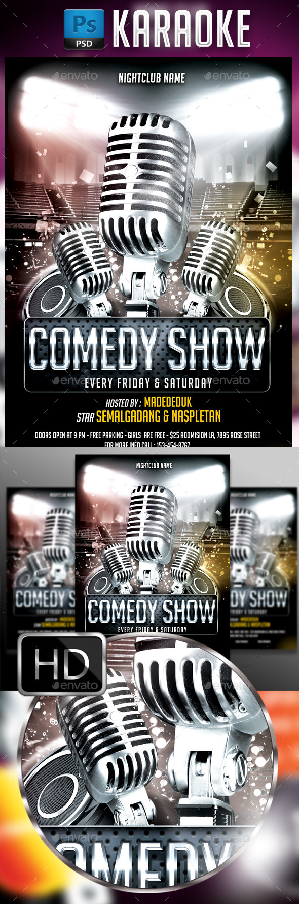 GraphicRiver Comedy Show Flyer Template #2 11944498