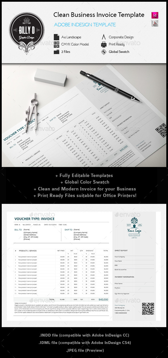 GraphicRiver Clean Business Invoice Template 11944562