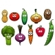 Healthy Fresh Cartoon Vegetables Characters - GraphicRiver Item for Sale