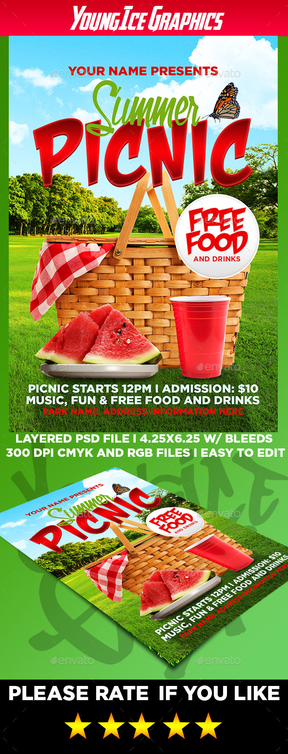 GraphicRiver Summer Picnic Flyer Template 11944675