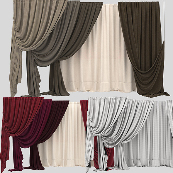 Curtain collection 10 - 3DOcean Item for Sale