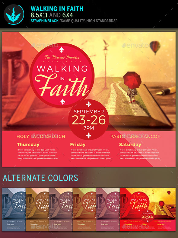GraphicRiver Walking in Faith Church Flyer Template 11944748