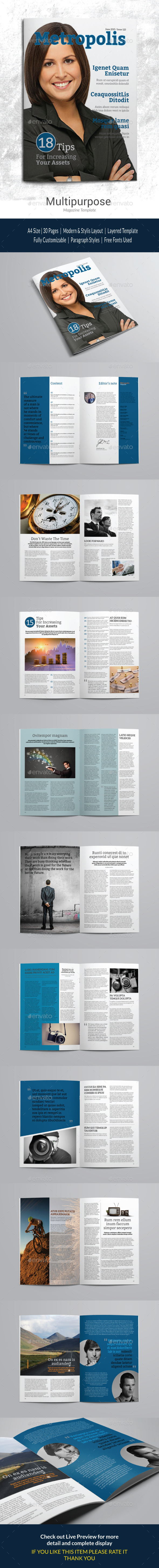 GraphicRiver Indesign Magazine Template vol 1 11945093