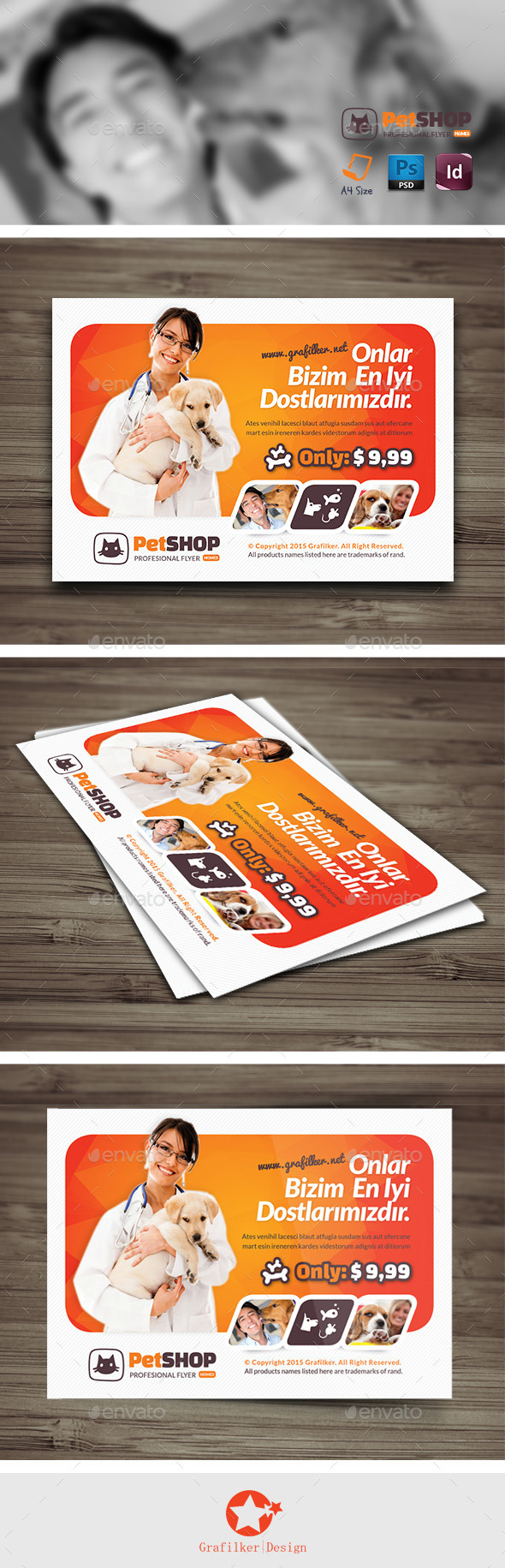 GraphicRiver Pet Shop Flyer Templates 11945529
