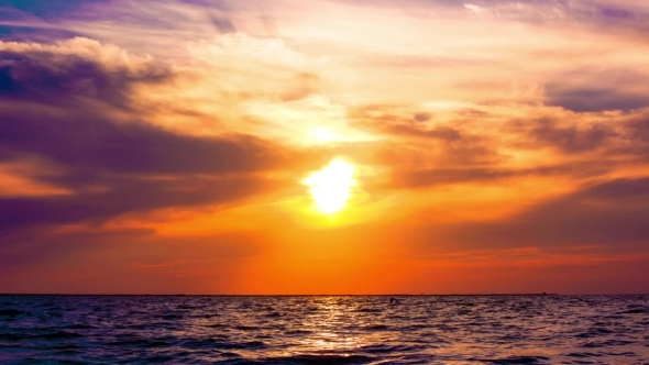 VideoHive Amazing Sunset On The Beach With Beautiful Sky 11945627