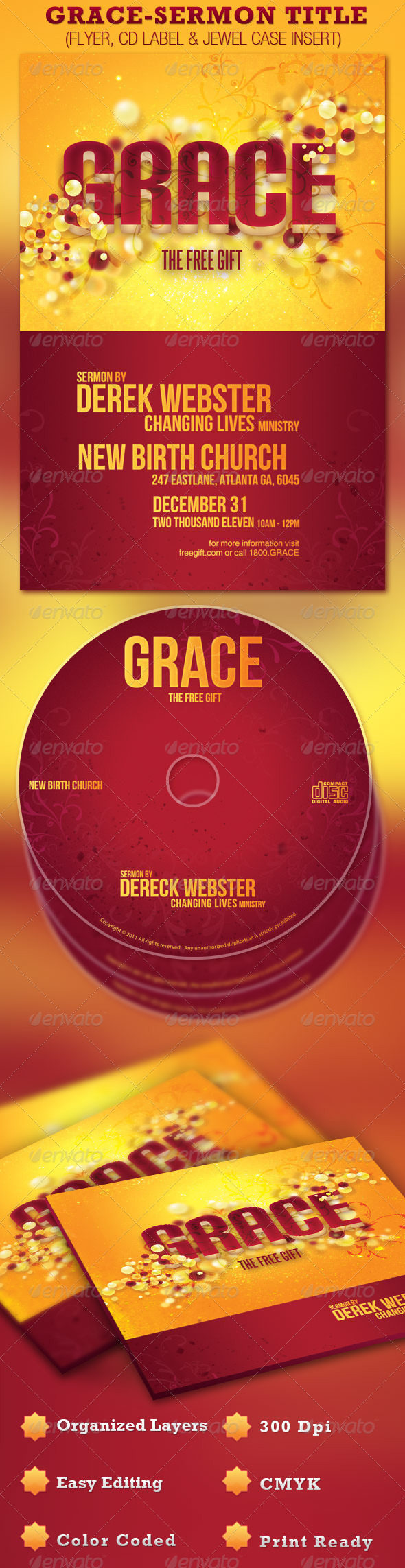 GraphicRiver Grace Sermon Title Flyer and CD 1199011