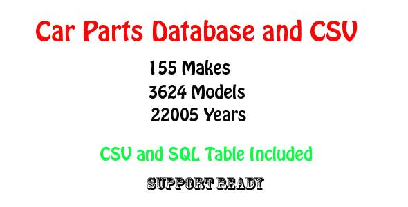 CodeCanyon car parts database and csv 11918446