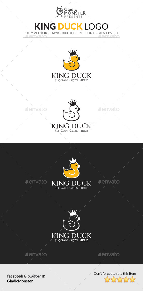 GraphicRiver King Duck Logo 11946335