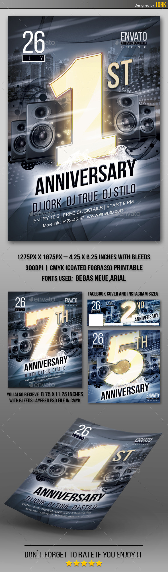 GraphicRiver Anniversary Party Flyer 11946744