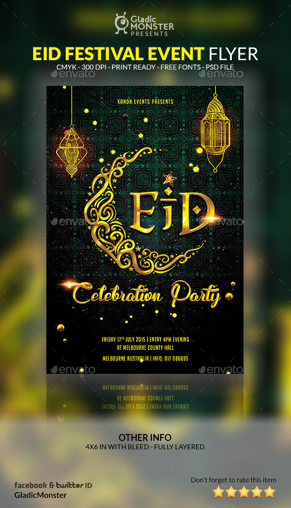 GraphicRiver Eid Festival Event Flyer 11946782
