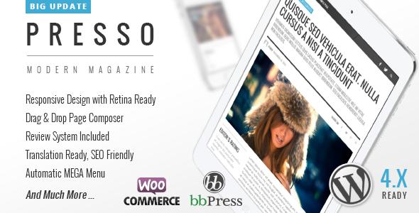 PRESSO - Clean & Modern Magazine Theme - Blog / Magazine WordPress