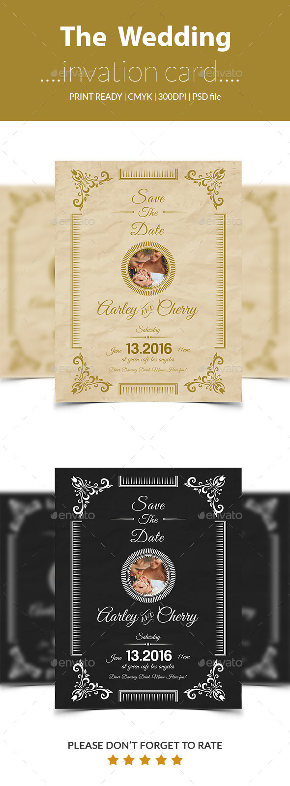 GraphicRiver wedding inviation card 11946870