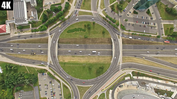 Roundabout Highway Interchange