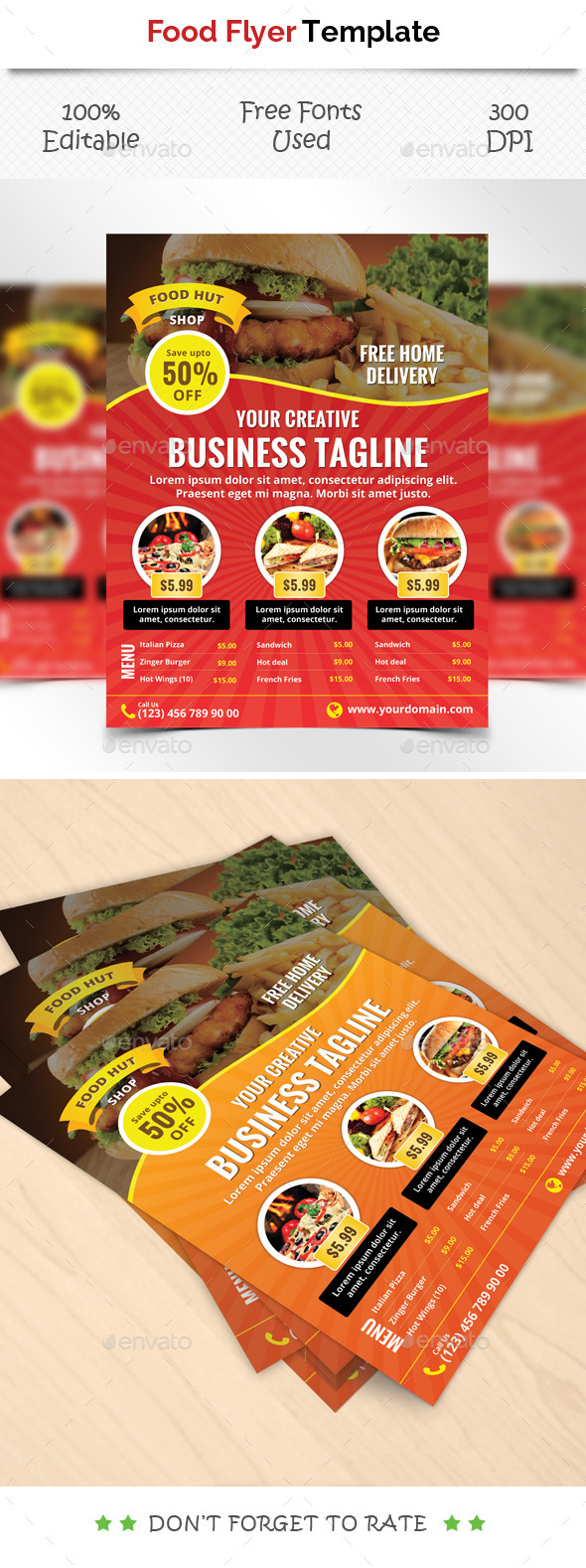 GraphicRiver Food Flyer Tempate 11946965