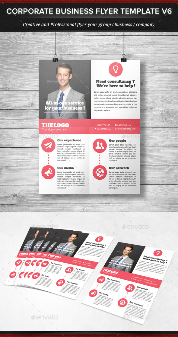 GraphicRiver Corporate Business Flyer Template V6 11947074