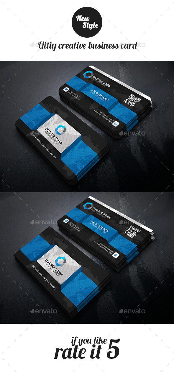 GraphicRiver Uitiy Creative Busienss Card Template 11947123