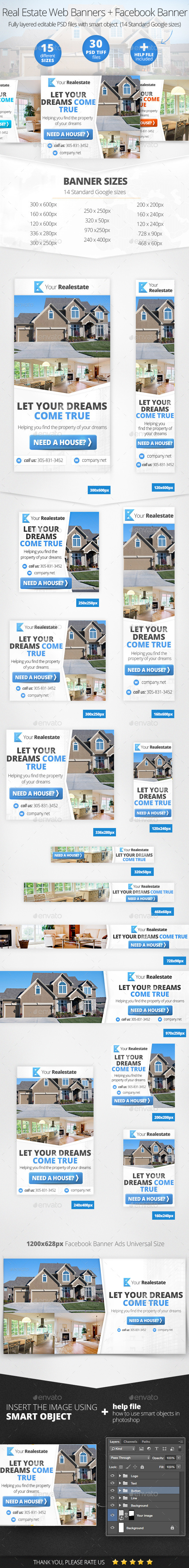 GraphicRiver Real Estate Web & Facebook Banners 11947166