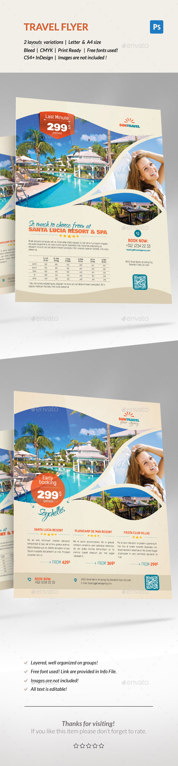 GraphicRiver Travel Holiday Flyer 11947563
