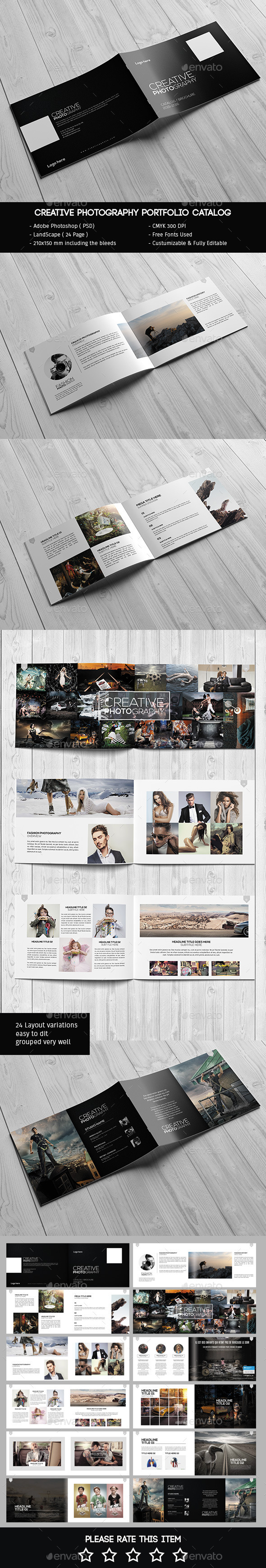 GraphicRiver Creative Photography Portfolio Catalog Brochure 11947658