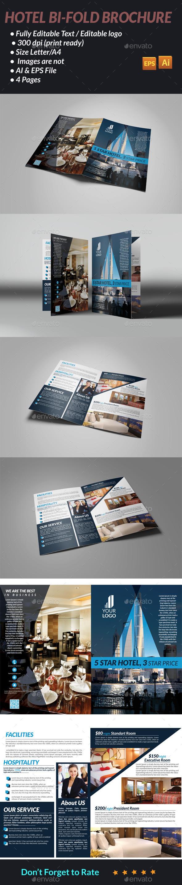 GraphicRiver Hotel Bi-Fold Brochure 11947710