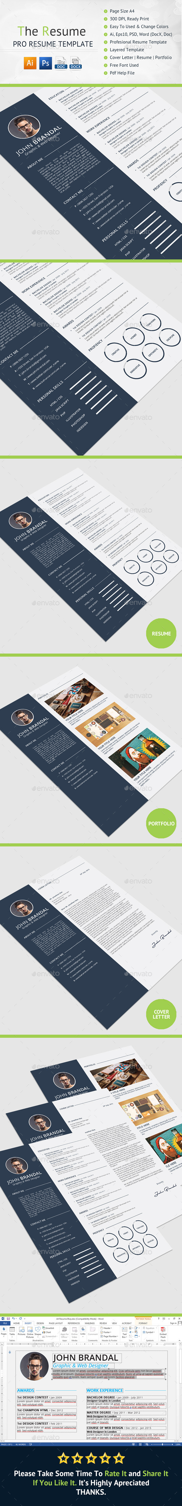 GraphicRiver The Resume 11937705