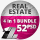 52 Real Estate Web & FB Banners - 4 in 1 Bundle - GraphicRiver Item for Sale