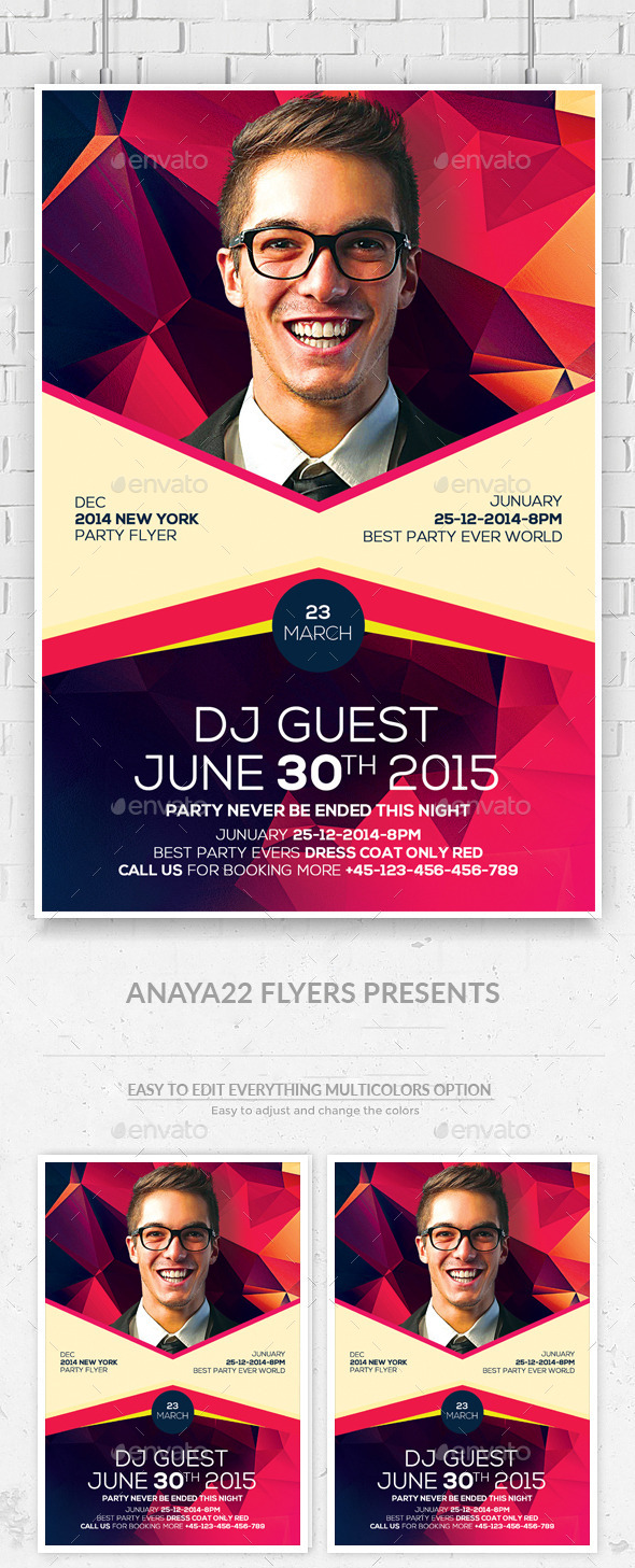 GraphicRiver Artist Event Flyer Psd Flyer 11948114