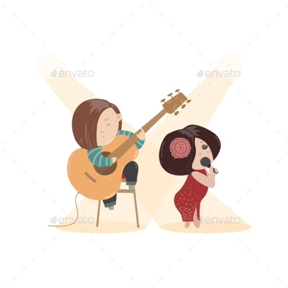 GraphicRiver Woman Singing with a Microphone 11948128