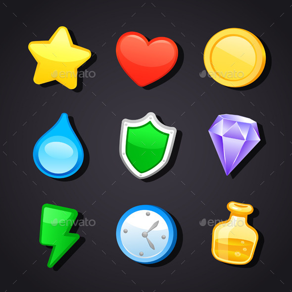 GraphicRiver Game Art Design Icons 11948246
