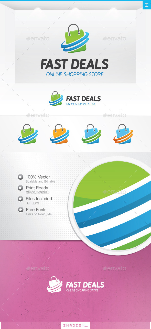 GraphicRiver Fast Shop Logo 11948368