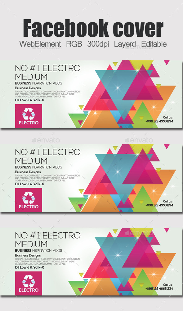 GraphicRiver Electro & Futuristic Facebook Timeline 11948537