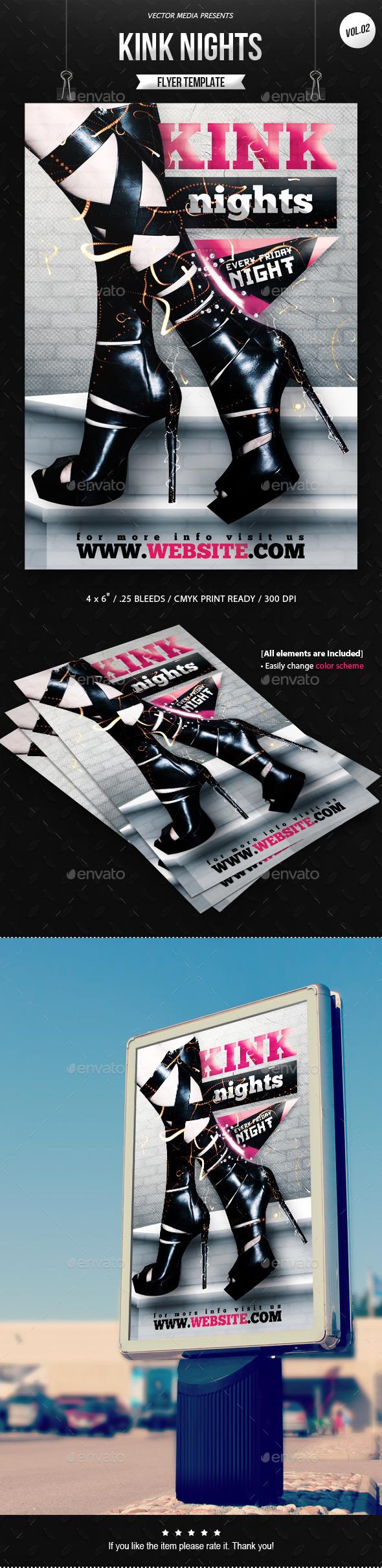 GraphicRiver Kink Nights Flyer [Vol.2] 11948693