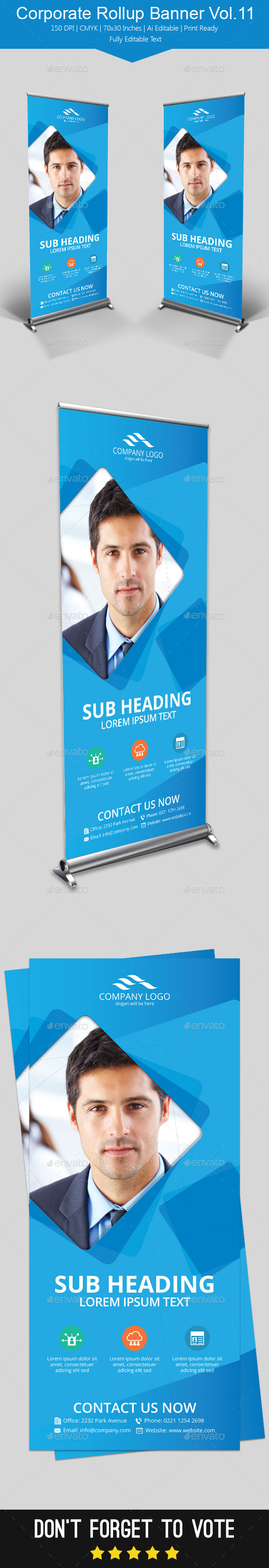 GraphicRiver Corporate Rollup Banner Vol.11 11948709