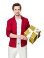 Man hold gift box in hand - PhotoDune Item for Sale