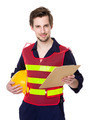Young smiling engineer hold with file - PhotoDune Item for Sale