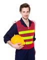 Engineer with holding yellow protective helmet - PhotoDune Item for Sale