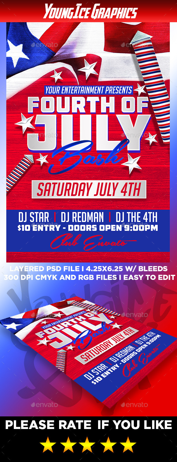GraphicRiver 4th of July Bash Flyer Template 11948785