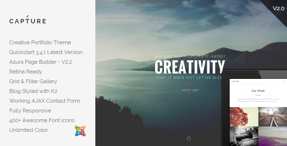 Capture - Creative Portfolio Joomla Template