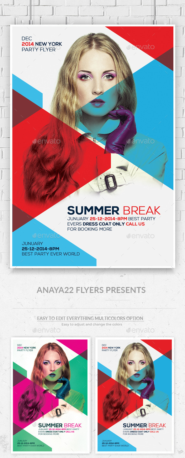 GraphicRiver Summer Break Flyer Template 11949278