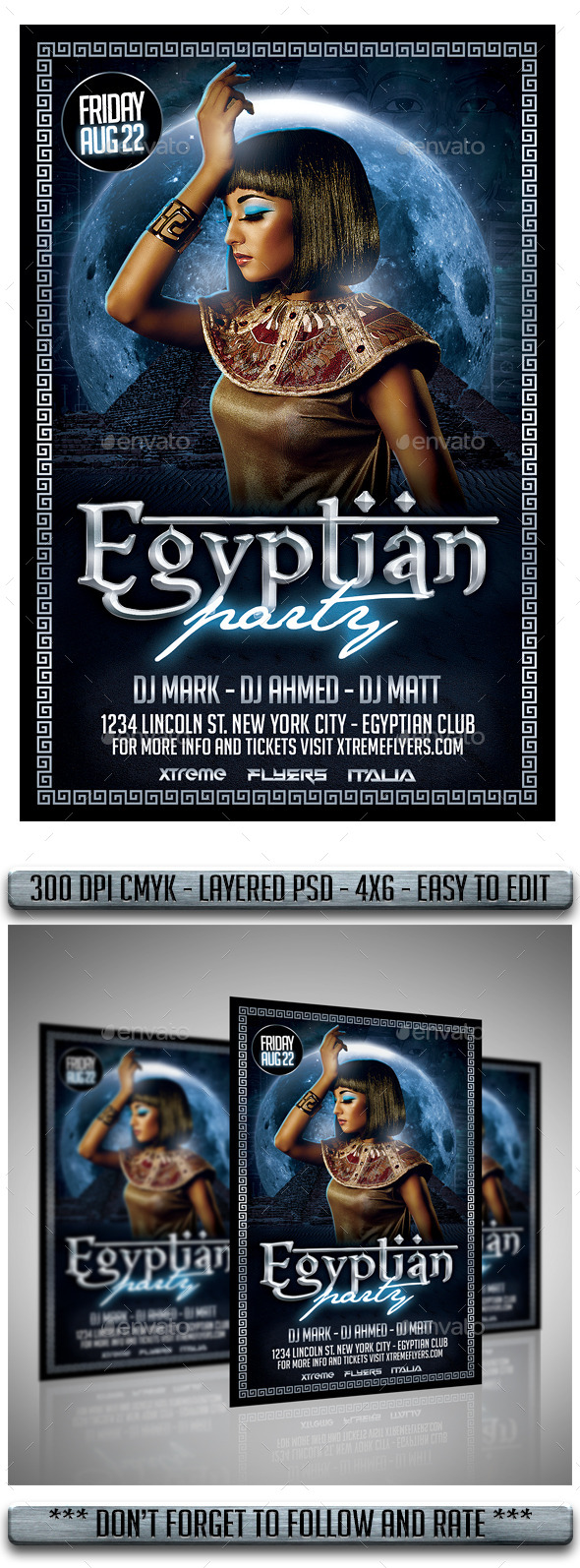 GraphicRiver Egyptian Night Flyer 11949504