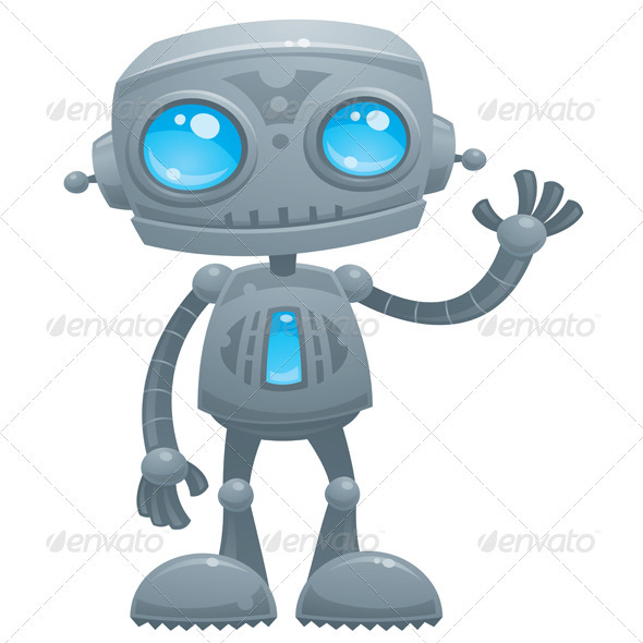 Waving Robot - Characters Vectors