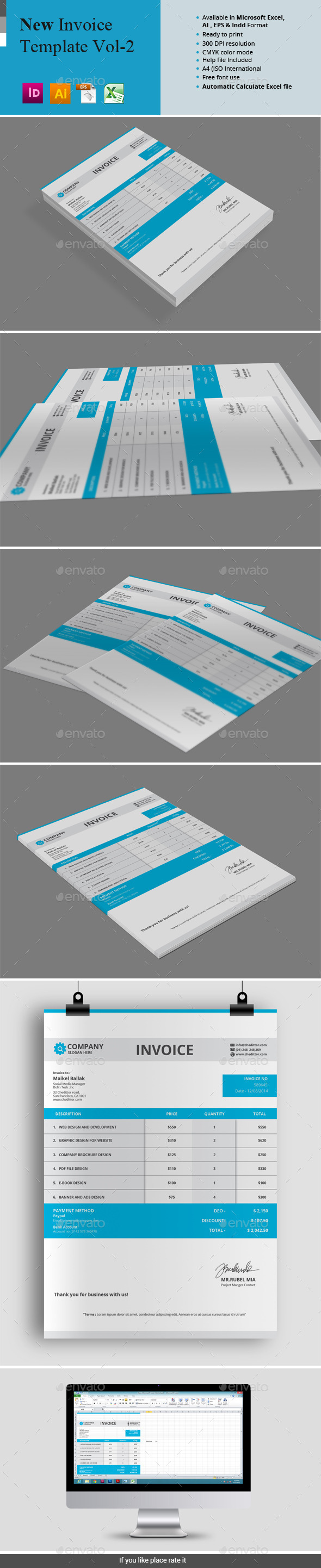 GraphicRiver New Invoice Template Vol-2 11949577