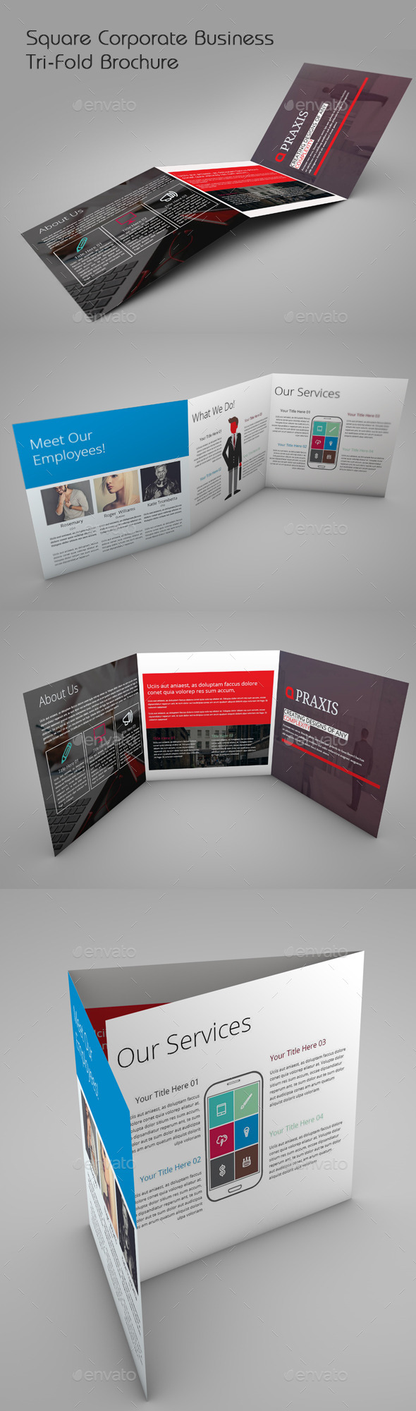 GraphicRiver Square Corporate Business Tri-fold 11949627
