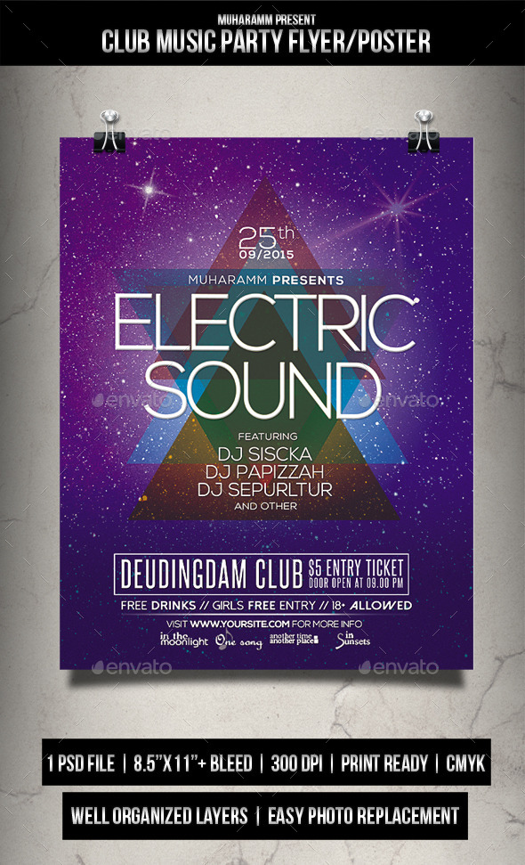 GraphicRiver Club Music Party Flyer Poster 11949706